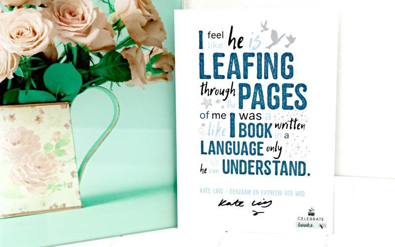Kaart met quote en handtekening Kate Ling