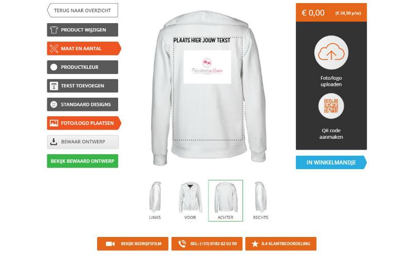 Een sweater bedrukken bij Digitransfer
