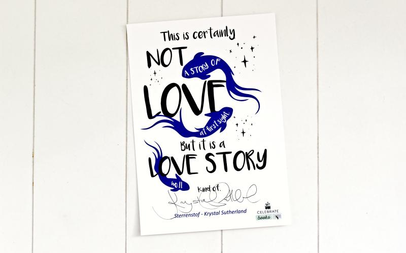 Celebrate Books All the Feels - Kaart met quote en handtekening