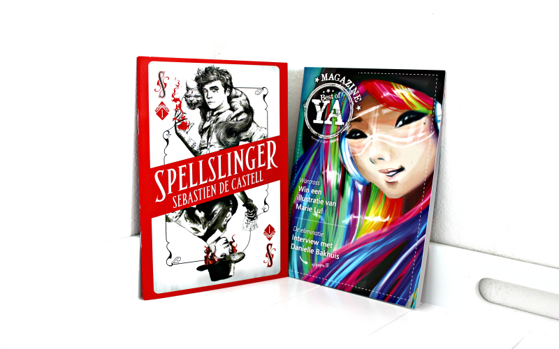 Leesexemplaar Spellslinger en Best of YA magazine