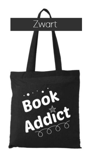 Book Addict totebag zwart