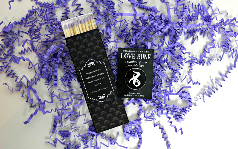 Love Rune Enamel Pin & Angelic Fire Candle Matches