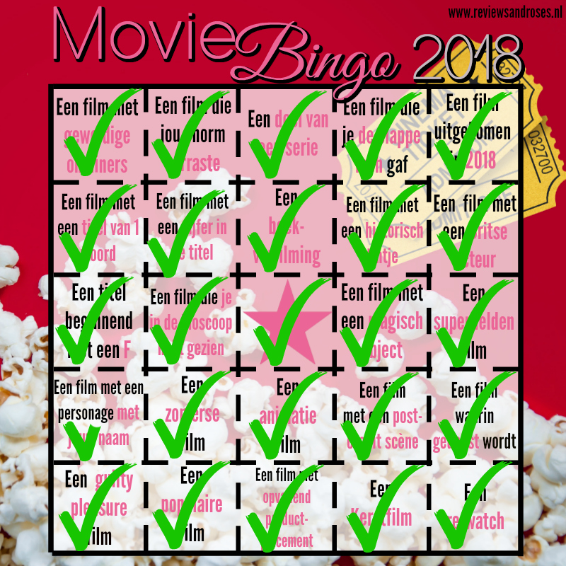 Movie Bingo 2018 - Update 4