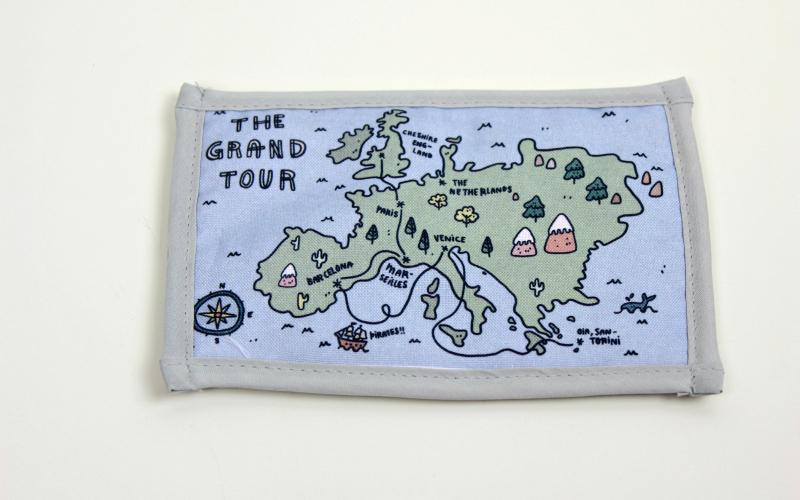 The Grand Tour Mug Rug