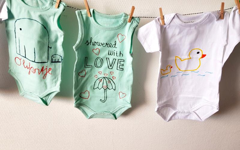 Baby Shower - Ontwerp je eigen rompertje