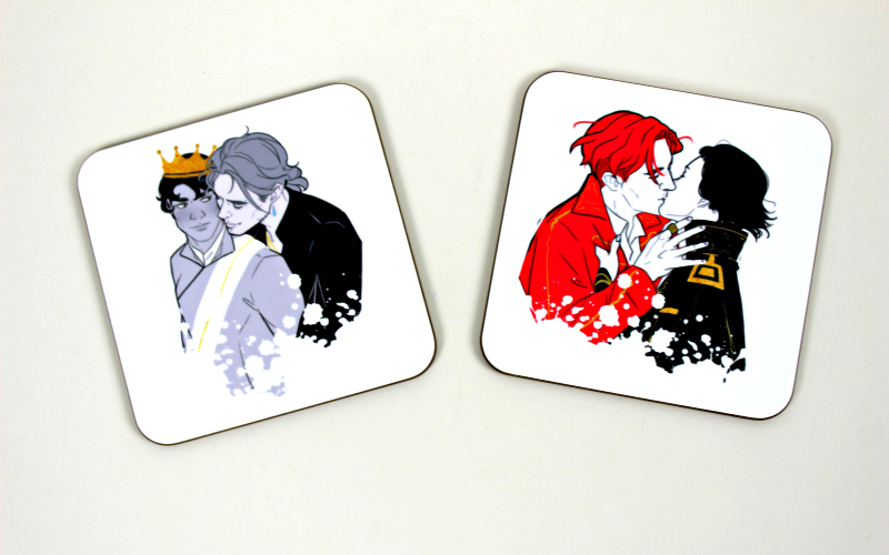 Royal Embrace coaster duo