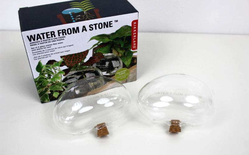 Kikkerland Bewateringsstenen van glas