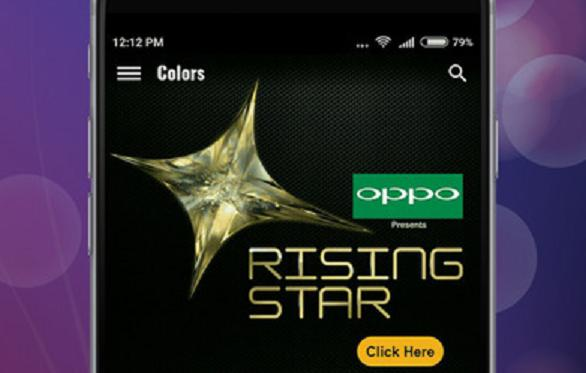 Colors TV App to vote Rising Star