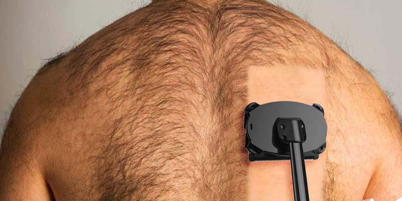 A back hair shaving image