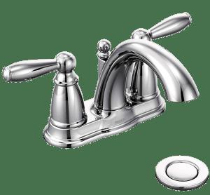 two-handle bathroom faucet - moen 6610 brantford