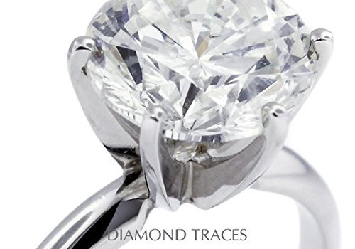 12.54 Carat Round Natural Diamond AGI Certified H-SI1 Solitaire Engagement Ring