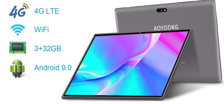 AOYODKG 10-inch Phone Tablet, Tablet with Keyboard and Mouse
