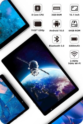 2021 VUCATIMES N20 10-inch Tablet, Android 10.0