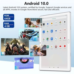 FEONAL 4G Phone Call Tablet, 10-inch Android 10 Tablet