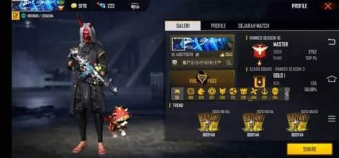 Akun Free Fire Full Elite Pass