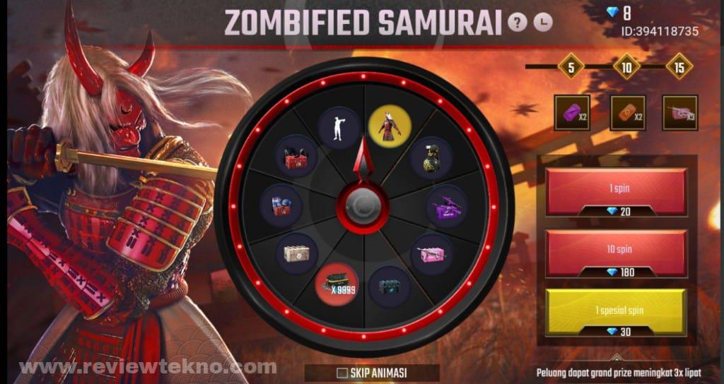 Cara mendapatkan Bundle Zombie Zamurai