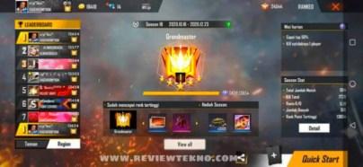 cara psuh rank free fire terbaru
