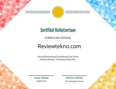 e sertifikat game ff
