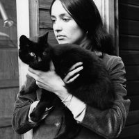 Joan Baez and a Cat