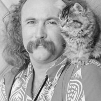 David Crosby with a Cat