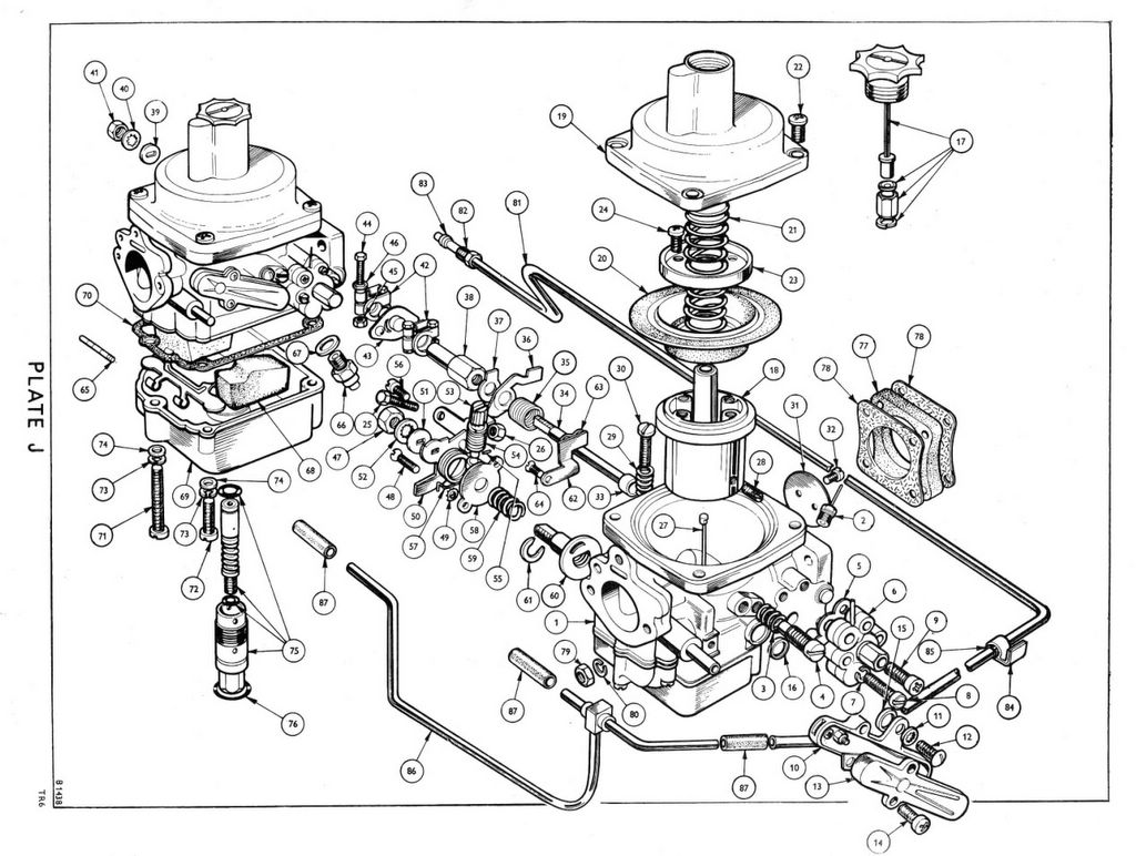 Tr6cpcc Engine Carburettor Model Carburettors From Cf1ue