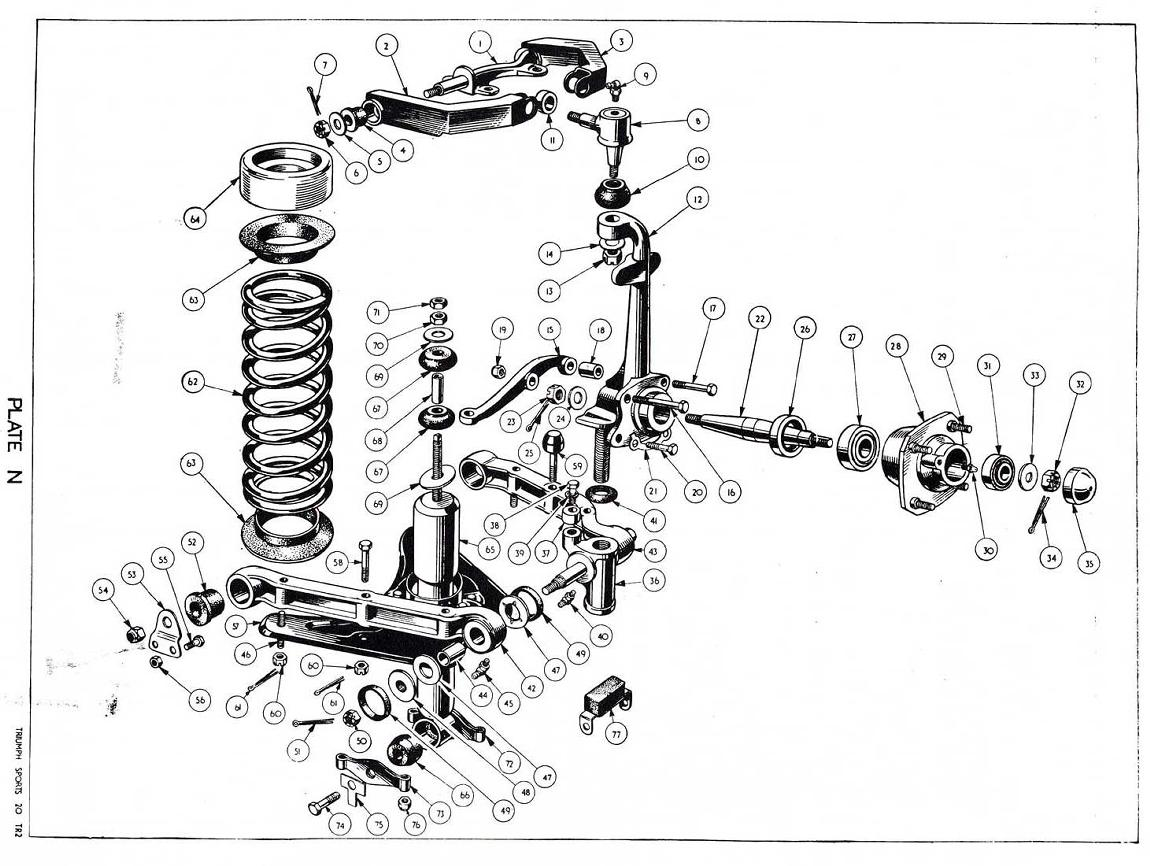 Revington tr tr3 plate n front suspension and hubs for epic electrical wiring diagrams