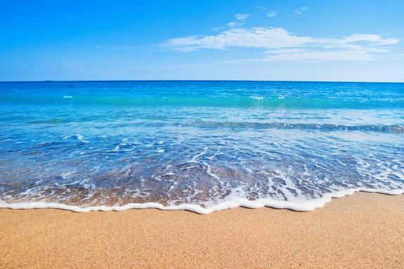 Land and Sea breezes occur along coastal areas such as beaches. Image by Livescience.
