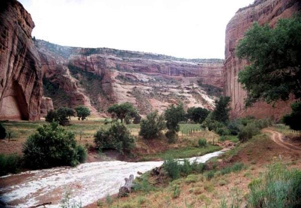 Flash floods in a desert. Image credit Backroadswest.com