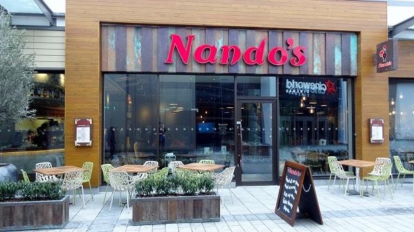 Nandos shop. Image credit lovealdershot.co.uk