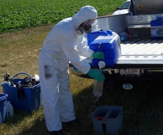 Safe use of chemicals. Image credit montana.edu