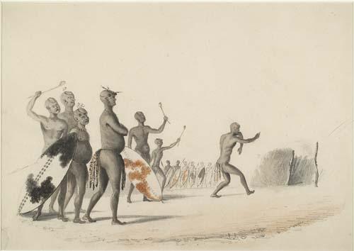A watercolour showing Mzilikazi Khumalo King of the Ndebele. Image credit africanfederation.net