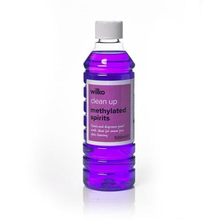 A bottle of methylated spirit. Image credit wilko.com