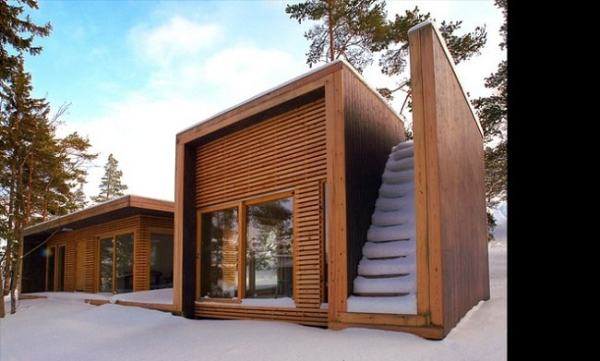 A wooden house. Image credit designrulz.com