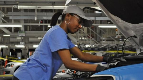A shop floor worker. Image credit footprint2africa.com