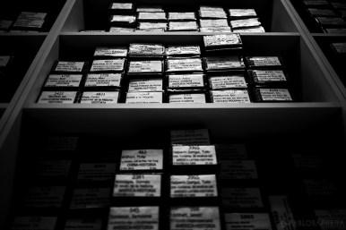 Audiolibros grabados en casettes pertenecientes a las Biblioteca Parlante de la Ciudad de Mar del Plata, Argentina. (©Pablo Barrera)