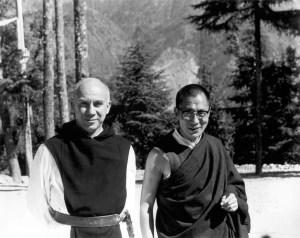 Dalai Lama e Thomas Merton, em 1968