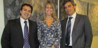 da esquerda para a direita: Fábio Ramos, Ivy Cassa e Tiago Cortez