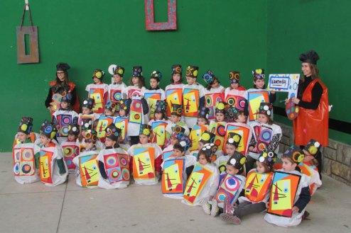 Los alumnos del Colegio Mater Dei hicieron honor a los pintores.