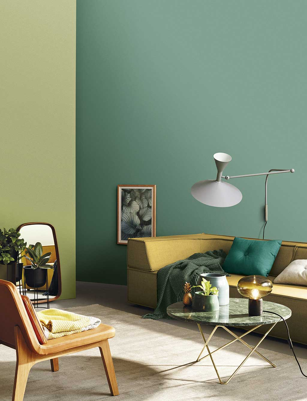 Colores para decorar 2018. Verdes.