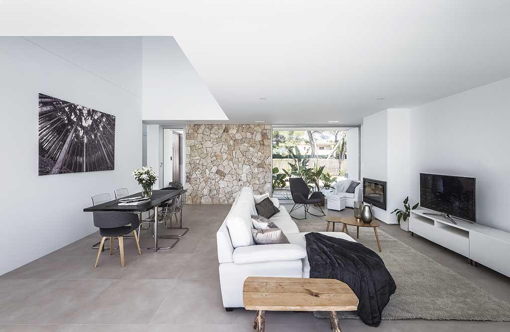 Diseño de casas acogedoras. Salón.