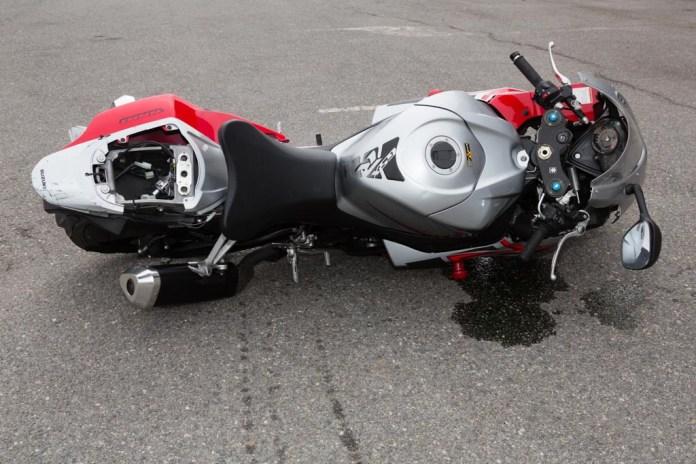 Motocicleta siniestrada