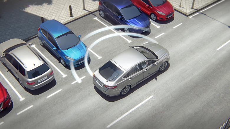 Active Park Assist con estacionamiento perpendicular