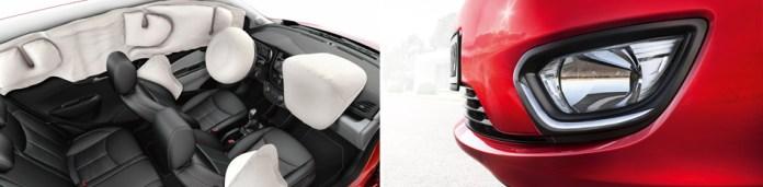 Equipamiento de airbags y luz de giro