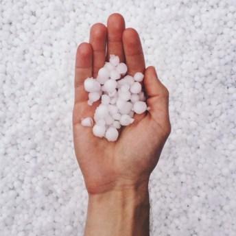 El tamaño del granizo oscila entre los 5 y los 50 milimetros