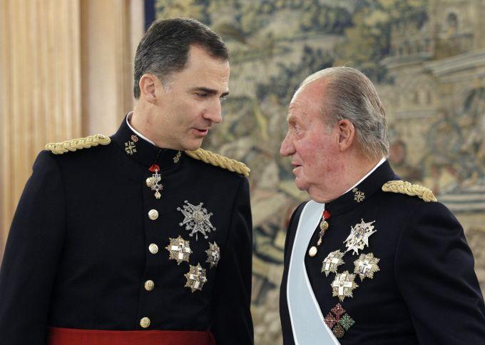 rey felipe espana y rey juan carlos