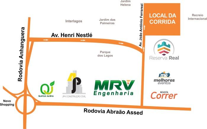 Mapa - Corrida Reserva Real - Revista Correr