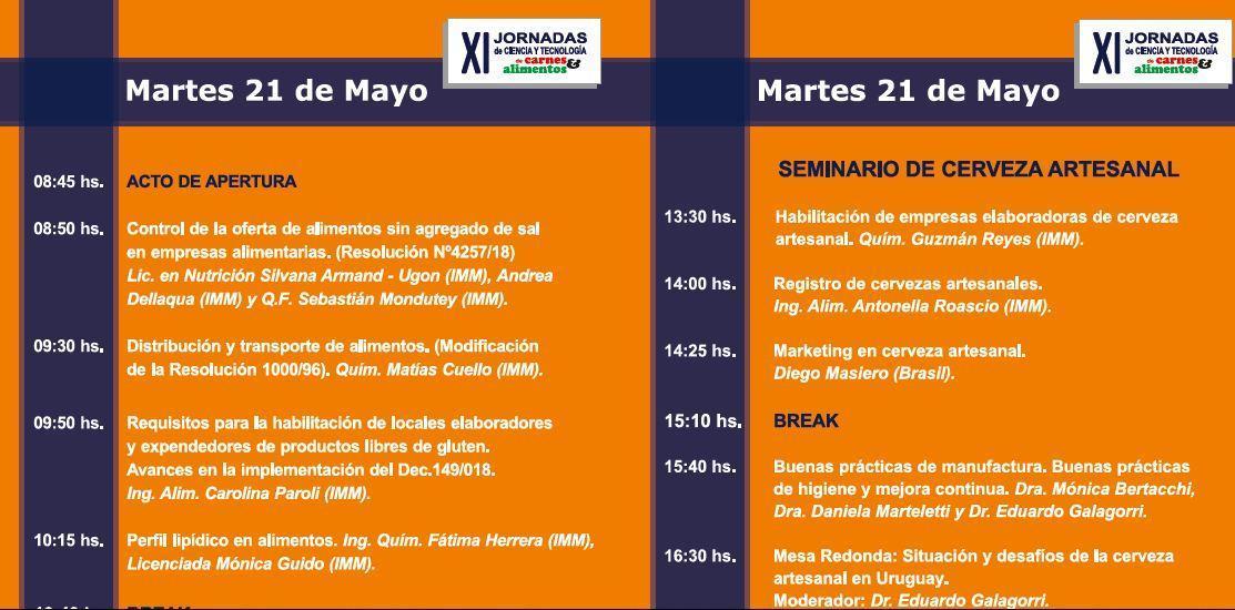 Programa de las Jornadas 2019