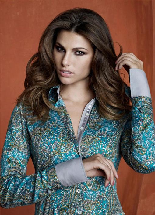 Camisa Dudalina feminina estampada 57ea2d18c238a