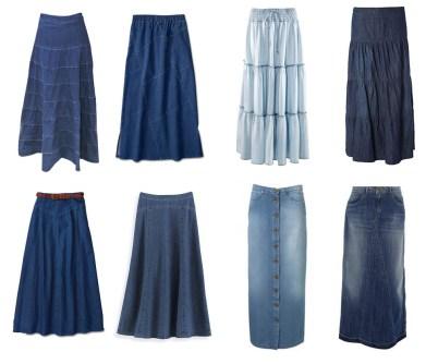 saia jeans longa 5