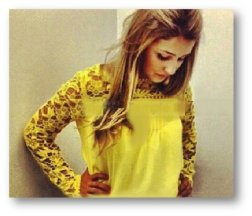 blusa de renda amarela 2